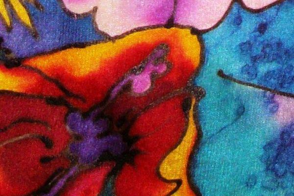 Batik Silk Scarf Design