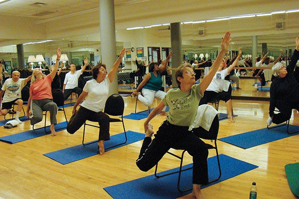 Chair Yoga: Mondays/Wednesdays at home via Zoom