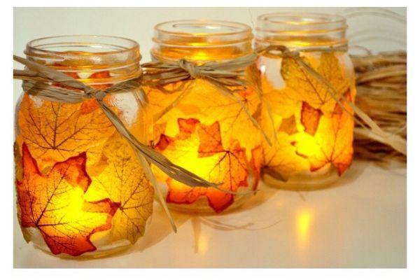 Autumn Leaf Candle Holder